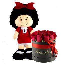 Mafalda (100% Hecho a mano) + Box Rosas